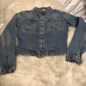 Express denim jacket xs zip up